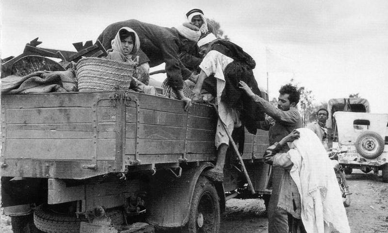 تهجير الفلسطينيين من أرضهم بعد نكبة 1948 (إنترنت)
