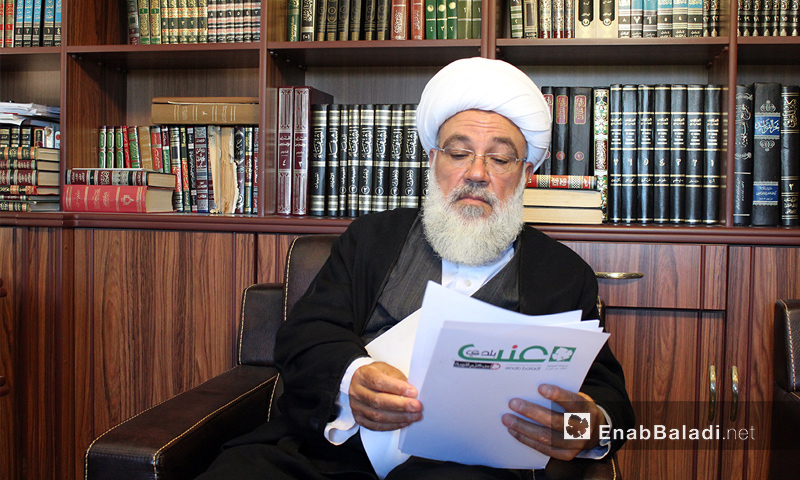 الشيخ صبحي الطفيلي في لقاء خاص مع عنب بلدي