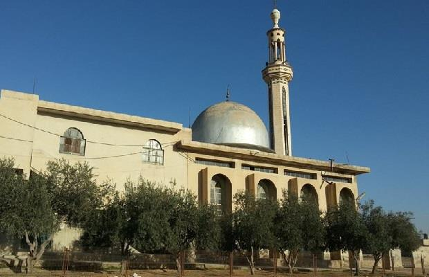 صورة قديمة لجامع بلال في بلدة الضمير