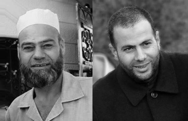 الشيخ نبيل الأحمر (يمين)، والشيخ أحمد عليان