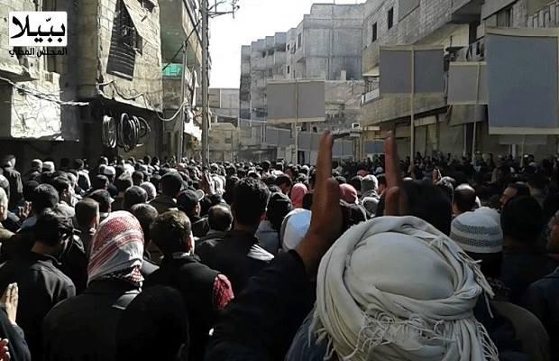 من مظاهرات اليوم - المجلس المحلي في ببيلا