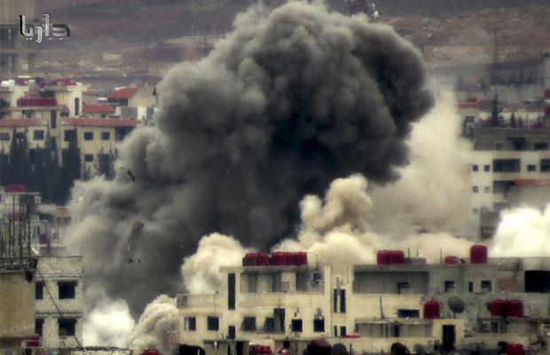 الصورة من المركز الإعلامي لمدينة داريا