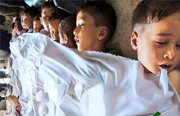 ضحايا أطفال من مجزرة الغوطة الشرقية - 21 آب 2013