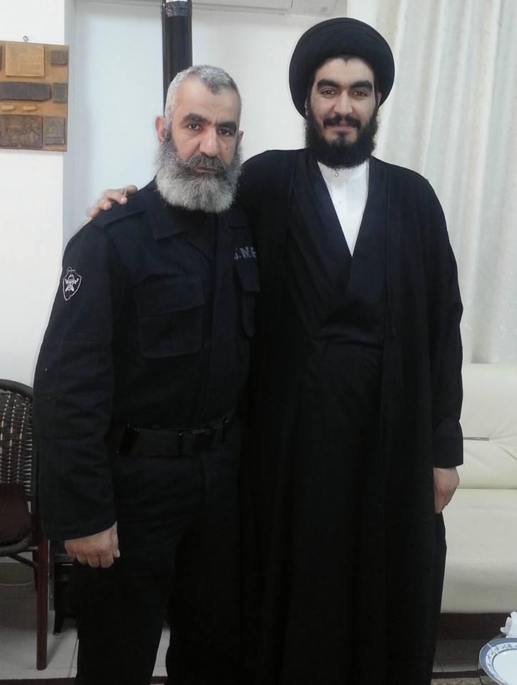 فادي برهان مع العميد عصام زهر الدين