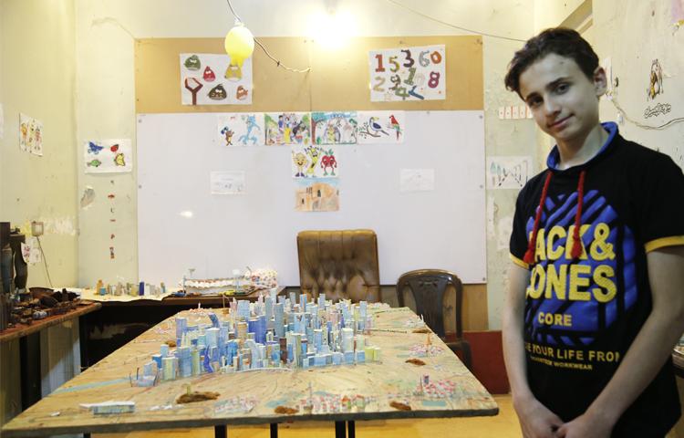 محمد قطيش (14 عامًا) حلب