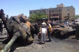 صورة لدبابات مدمرة في سوريا- أرشيف