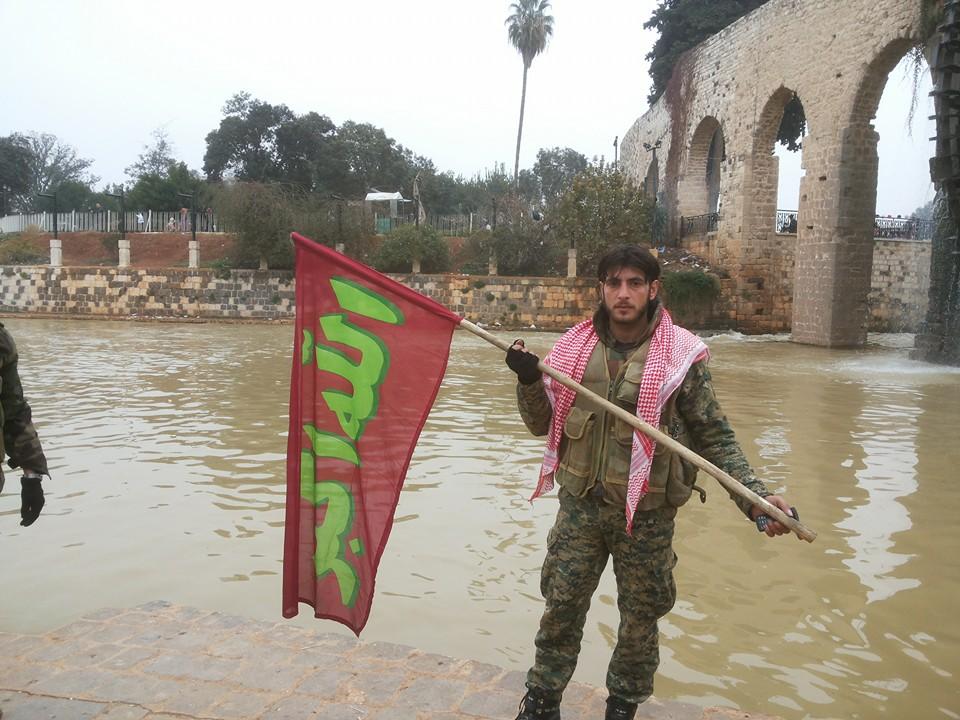 """جهاد """"البرنس"""" في حماة، وهو من مدينة إدلب يعمل ضمن ميليشيا """"لواء البعث""""."""