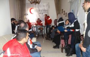 الصليب الأحمر في حي الوعر