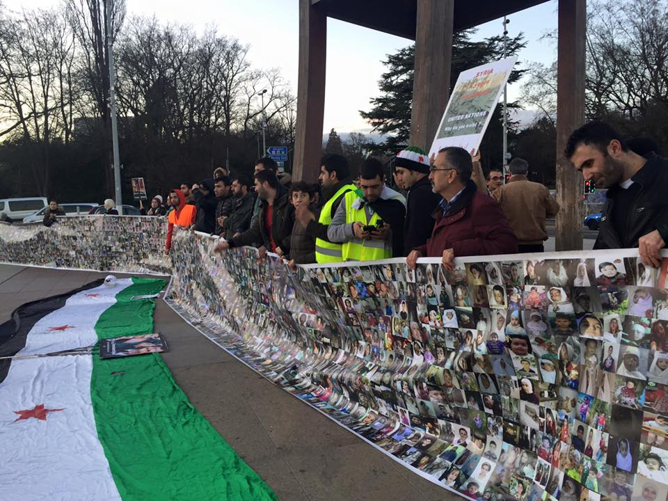وقفة احتجاجية أمام مقر الأمم المتحدة في جنيف