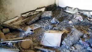 بقايا ودمار أثاث لأحد المنازل بعد القصف، حلب (عنب بلدي).