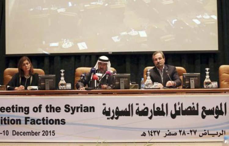 تعبيرية: اجتماع المعارضة السورية في الرياض - الأربعاء 9 كانون الأول 2015 (وكالات)