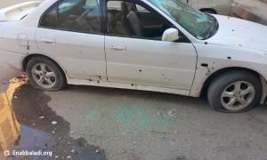 سيارة أصيبت بالقنابل العنقودية - دوما الثلاثاء 26 كانون الثاني 2016 (مراسل عنب بلدي).