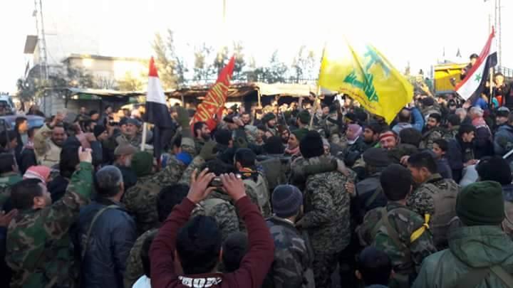 عناصر أجانب يقاتلون إلى جانب قوات الأسد، دخلوا نبل والزهراء اليوم.