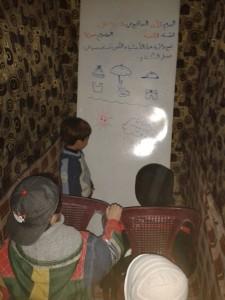 التعليم في أحد ملاجئ داريا