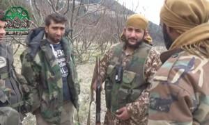 مقاتلون من أحرار الشام في قرية قروجة في جبل التركمان، الخميس 11 شباط.