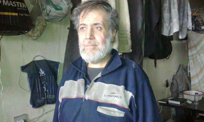 صورة تناقلها ناشطون للشيخ مصطفى حورية داخل سجن صيدنايا.