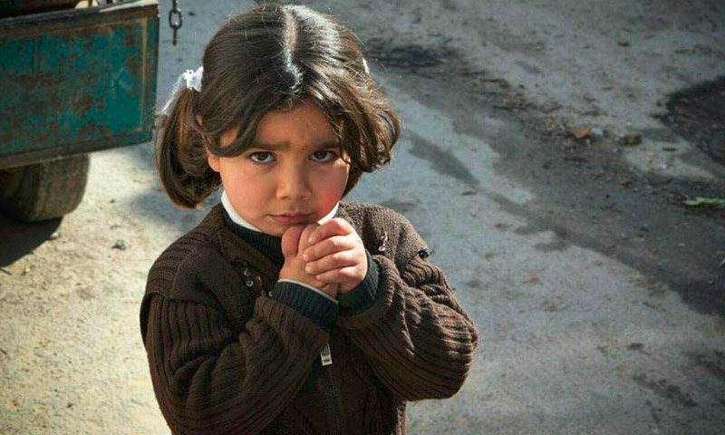 تعبيرية: طفلة في مدينة دوما بالغوطة الشرقية - 13 شباط 2016 (تنسيقية مدينة دوما)