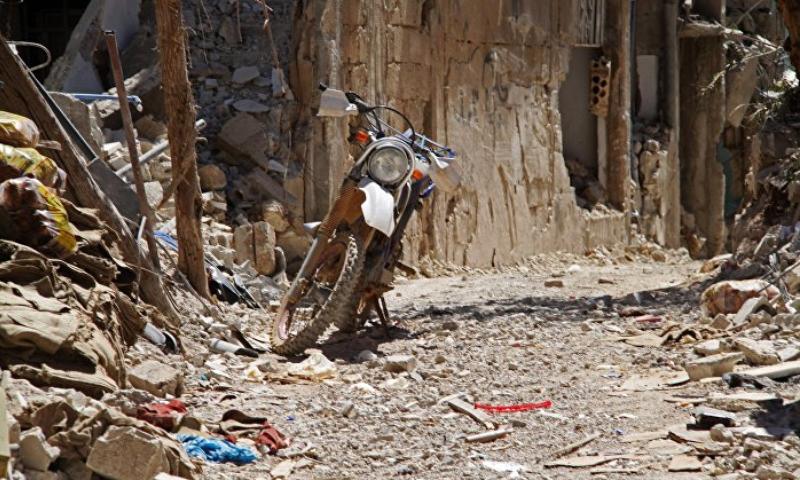 مدينة الزبداني المحاصرة - آب 2015 (فرانس برس).