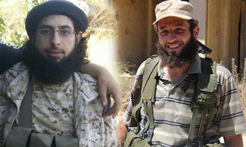 أبو صلاح مسالمة، الأمير العسكري لجبهة النصرة في درعا (يمين)، وأبو حسين تل، الأمير العسكري لحركة المثنى الإسلامية