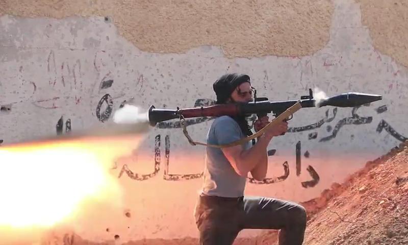 جانب من اشتباكات الغوطة الشرقية، الاثنين 28 آذار، المصدر: جيش الإسلام.