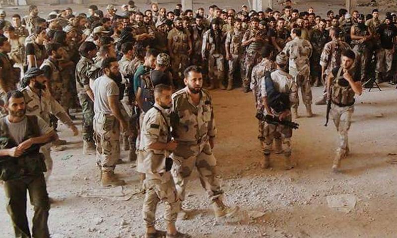 مقاتلون من الفرقة 13 في الجيش الحر، صورة أرشيفية.