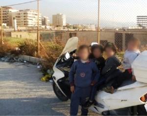 """أربعة أطفال أخفيت ملامحهم وقال لامب إنه """"اشتراهم"""" في بيروت"""