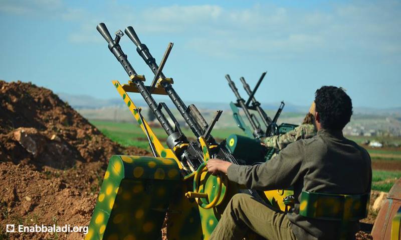 محاولة استهداف الطيران الحربي في ريف حماة الشمالي، السبت 12 آذار، المصدر: عنب بلدي.