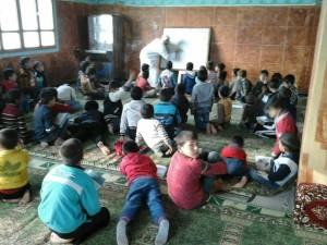 مدرسة في ريف حماة (عنب بلدي)