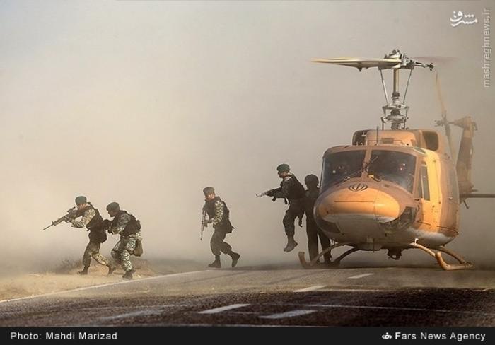 تدريبات اللواء 65 الإيراني (وحدة القبعات الخضر)، المصدر: وكالة فارس الإيرانية.