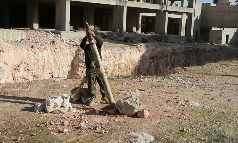 استهداف الشيخ مقصود بقذائف الهاون 24 شباط 2016 (مركز سوريا الإعلامي)