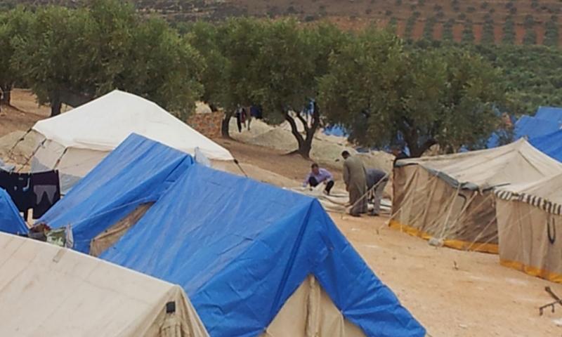 صورة أرشفية لمخيمات النازحين شمال إدلب.