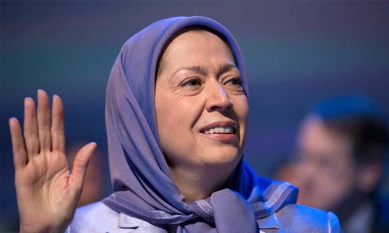 زعيمة مجاهدين خلق الإيرانية المعارضة للنظام، مريم رجوي،