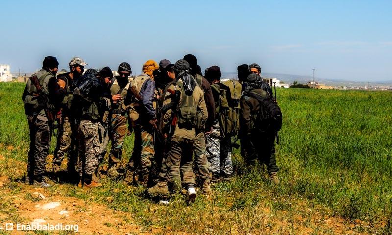 عناصر من جيش الفتح في ريف حلب الجنوبي، الجمعة 8 نيسان، المصدر: عنب بلدي.