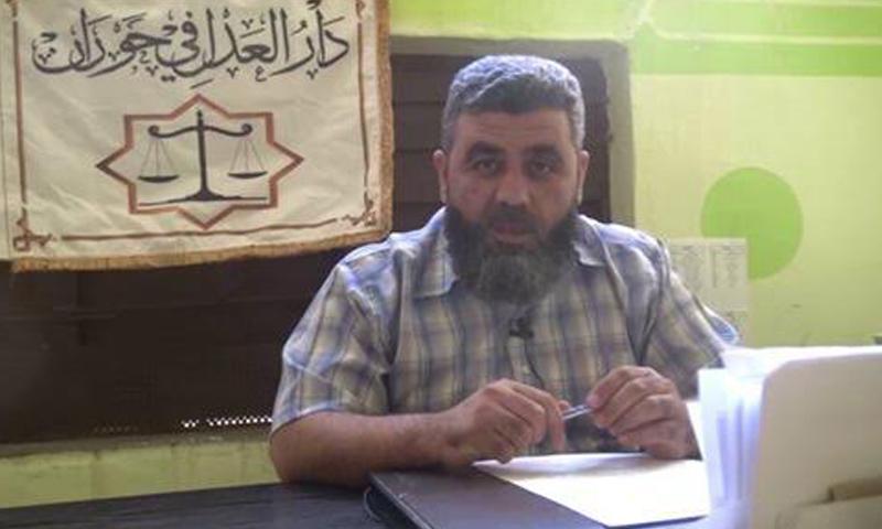 """بشار كامل النعيمي، النائب السابق لرئيس """"محكمة دار العدل في حوران""""."""