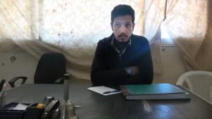 محمود قطيفان، المدير التنفيذي لمكتب بناة المستقبل في درعا، عنب بلدي.