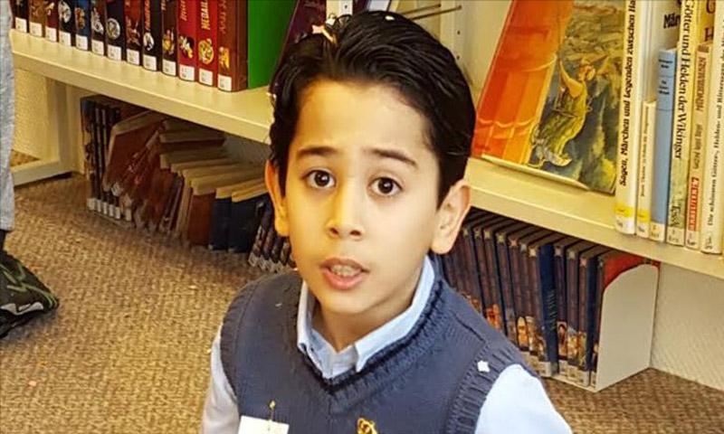 الطفل السوري احمد حزاني