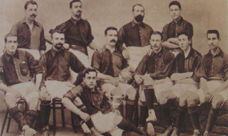فريق نادي برشلونة في أول كلاسيكو 1902