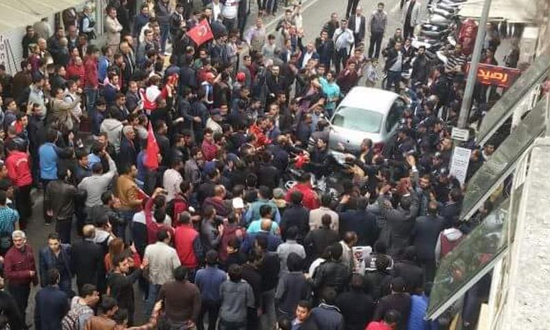 مظاهرة في كيليس تطالب بتدخل عسكري تركي في سوريا (إنترنت)