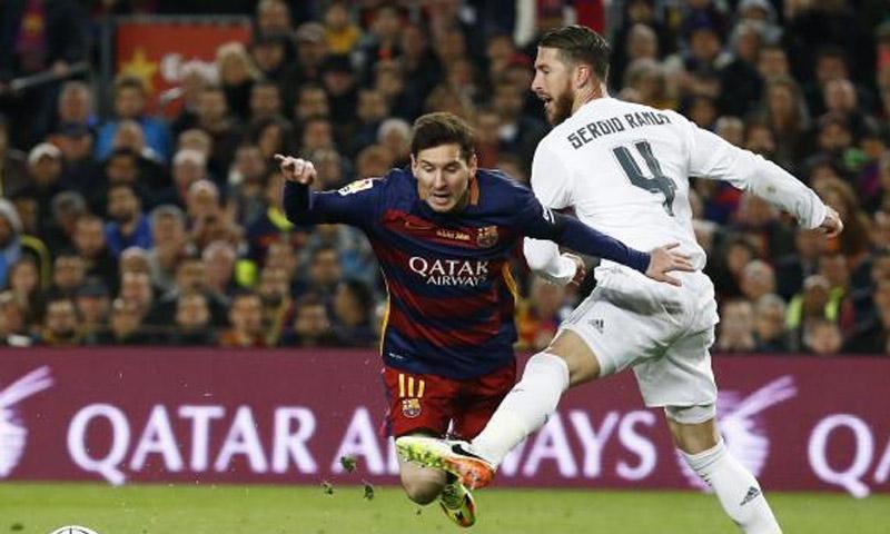 من مبارة برشلونة وريال مدريد