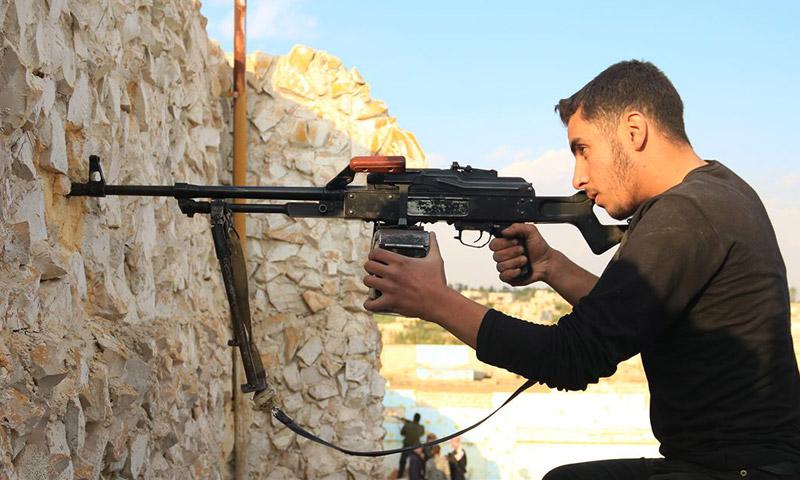 مقاتل في جيش الإسلام على جبهة ميدعا في الغوطة الشرقية (جيش الإسلام)