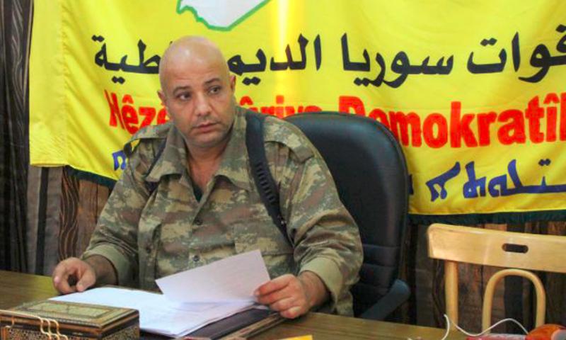 """الناطق الرسمي باسم """"قوات سوريا الديمقراطية""""، طلال سلو (تويتر)"""