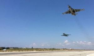 تعبيرية: طائرات روسية تهبط في مطار حميميم بسوريا - 2016 (وكالات)