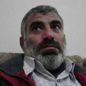 """عبد الهادي عيسى السالم، قتل على يد تنظيم """"الدولة الإسلامية"""" في 3 أيار (الشبكة السورية لحقوق الإنسان)."""