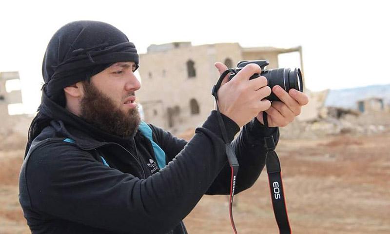الناشط الإعلامي لواء الناصر الذي قتل بغارة روسية بريف إدلب (إنترنت)