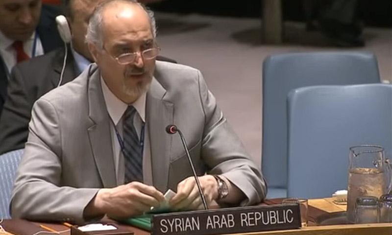 مندوب النظام السوري لدى الأمم المتحدة بشار الجعفري