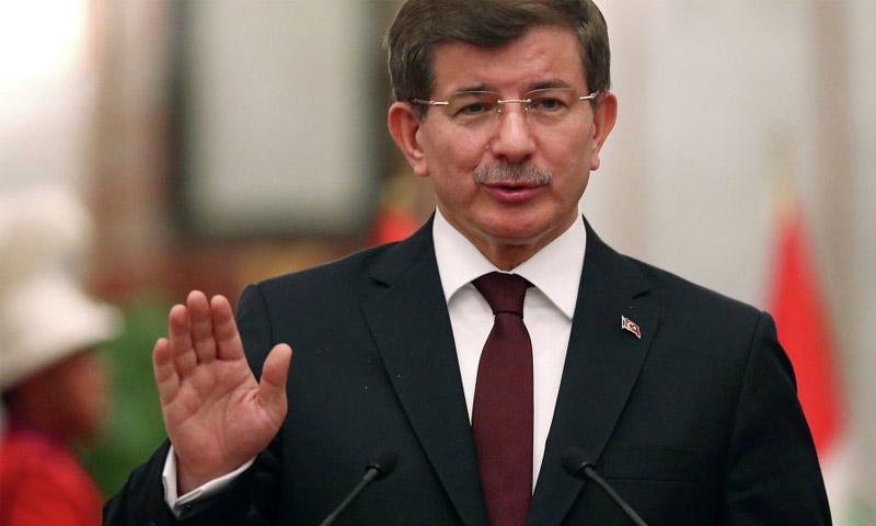 أن رئيس الوزراء التركي أحمد داود أوغلو