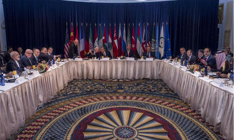 جانب من اجتماع مجموعة دول دعم سوريا(انترنت)