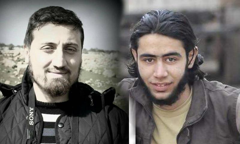 الناشط الإعلامي معد باريش (يمين) إلى جانب الناشط الإعلامي مهند زريق (يسار).