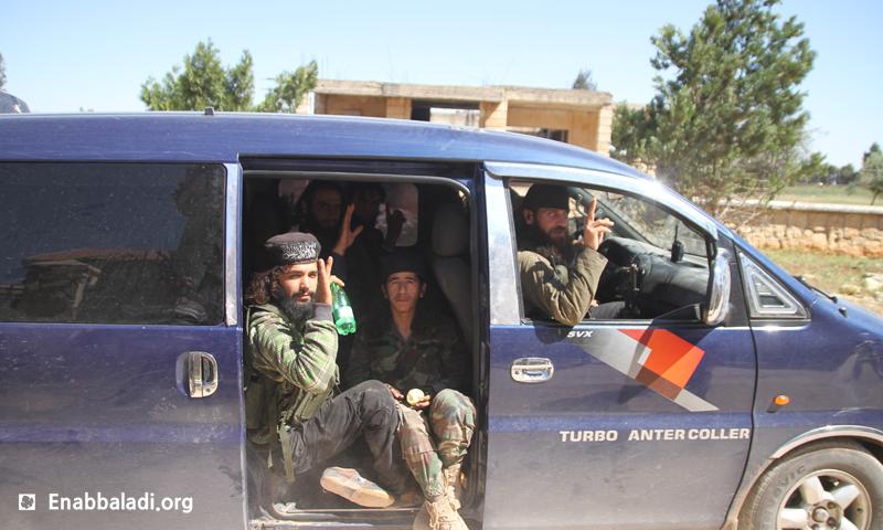 """عناصر من """"جيش الفتح"""" في ريف حلب الجنوبي، أيار 2016 (عنب بلدي)."""