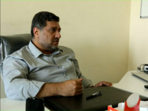 خليل أحمد، مدير تلفزيون حلب اليوم في مقابلة مع عنب بلدي.